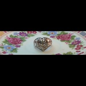 Jewelry - Vintage Puffy heart ring .925 Sterling silver
